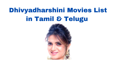 anchor dhivyadharshini movies list
