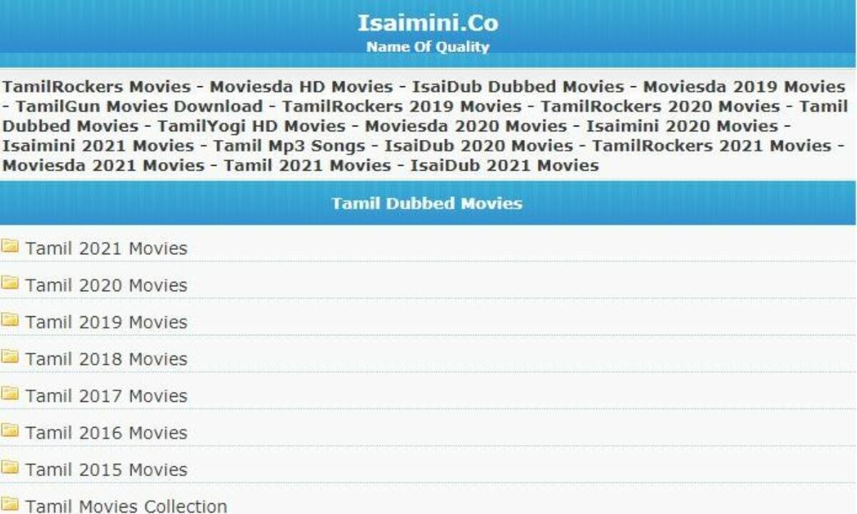 Dubbed movies collection 2021 tamil Isaidub Tamil